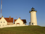 Exterior of Nobska Point Lighthouse  Woods Hole  Cape Cod  Massachusetts  USA