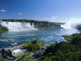 Niagara Falls on the Niagara River That Connects Lakes Ontario and Erie  New York State  USA