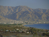 The Red Sea Port of Aqaba and Highlands Beyond  Jordan  Middle East