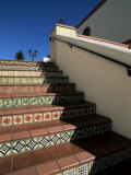 Tile Stairs in Shopping Center  Santa Barbara  California