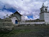 The Only Church in the Town of Isluga  Parque Nacional Volcan Isluga  South America
