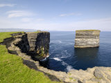 Sea Stack at Downpatrick Head  Near Ballycastle  County Mayo  Connacht  Republic of Ireland (Eire)