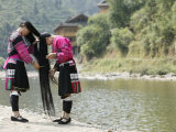 Young Women of Yao Minority Tribe  Huanglo Yao Village  Longsheng Terraced Ricefields  China