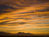 Sunset with Deep Orange Clouds  Bransfield Strait  Antarctica  Polar Regions