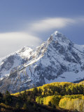 Snow Capped Mountain and Fall Colors  Dallas Divide  Colorado