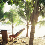 Young Woman Relaxes on Avellans Beach  Costa Rica  Central America