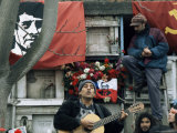 Guitarist Plays Victor Jara Songs at His Grave on 11th De Septiembre  Chile  South America