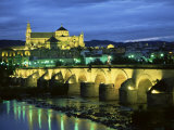 Mezquita (Cathedral) and Puente Romano (Roman Bridge)  Cordoba  Andalucia (Andalusia)  Spain