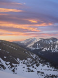 Orange Clouds at Dawn Above Longs Peak  Rocky Mountain National Park  Colorado