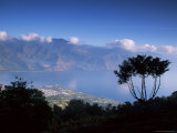 View from the San Pedro Volcano of San Pedro and Lago Atitlan (Lake Atitlan)  Guatemala