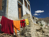 Monk&#39;s Clothes on Line  Tikse (Tiksay) Gompa (Monastery)  Tikse (Tiksay)  Indian Himalayas  India