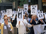 Protest by Mothers of the Missing (Desaparasidos)  Chile  South America