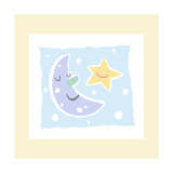 Cheerful Moon and Star