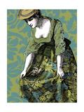 Woman with White Bird