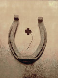 Lucky Horse Shoe on Dusty Rose Metallic IV