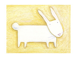 Pensive Bunny - Crayon Critter III