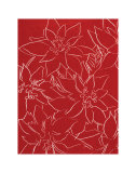 Poinsettias  c1983 (White on Red)