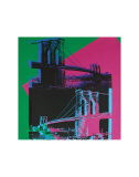 Brooklyn Bridge  c1983 (Green  Blue  Pink)