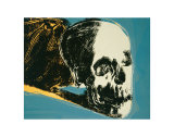 Skull, c.1976 (yellow on teal) Reproduction d'art par Andy Warhol