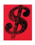 Dollar Sign  c1981 (black on red)