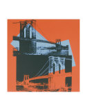 Brooklyn Bridge  c1983 (black  red  blue)