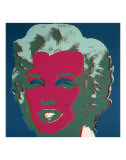 Marilyn  c1967 (On Peacock Blue  Red Face)