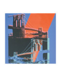 Brooklyn Bridge  c1983 (pink  red  blue)