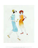 Two Female Fashion Figure  c1960