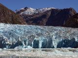 Blue Ice Along Glacier Front  Leconte Glacier  Alaska