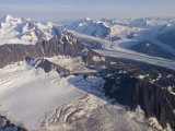 Aerial View of Harvard Glacier and Mount Marcus Baker  Alaska