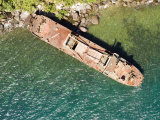 Abandoned Cargo Ship on Nosy Mangabe  Madagascar