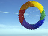 Colorful Kite Flying in Sky at Beach  Romo  Denmark