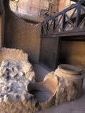 Ancient Wine Store with Amphora Storage System in Herculaneum  Italy
