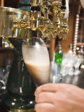 Bartender Pours a Beer from the Tap in Jimmy&#39;s Pub in Ojai  California