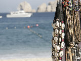 Close Up View of Beaded Necklaces on the Beach  Cabo San Lucas  Mexico