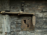 Close View of a Lock on a Door in the Prison of the Doges Palace  Venice  Italy