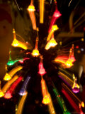 Christmas Tree Lights Leave Color Trails in This Motion Exposure  Silver Spring  Maryland