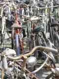 Close View of Bicycles  Italy