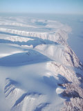Aerial View of Snow-Blanketed Ellesmere Island