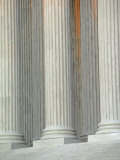 Closeup of Columns of Supreme Court Building  Washington  DC