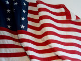 Close View of Historic American Flag  Stonington  Connecticut