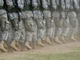 Army Rangers Marching in Formation