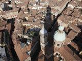 Bologna's Basilica di San Petronio from Torre Degli Asinelli  Italy