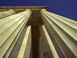 Abstract View of Columns of Lincoln Memorial  Washington  DC