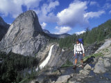Backpacking on the John Muir Trail Past Nevada Falls and Liberty Cap