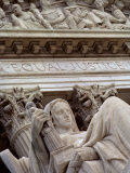 Closeup of a Statue at the Supreme Court Building  Washington  DC