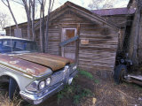 Abandoned Cabin and Old Car on Historic Route 66  Seligman  Arizona