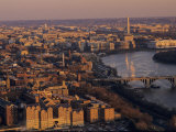 Aerial View of DC and the Potomac River from Georgetown  Washington  DC