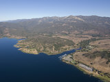 Aerial of Lake Casitas at Full Capacity  Ventura  California