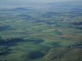 Aerial View of Farms in Shenandoah Valley